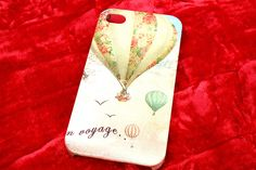 Hot Air Balloons / Vintages Balloon Modern Decoupage case / iPhone4 / iPhone4s / iPhone cover / iPhone case. $13.99, via Etsy.