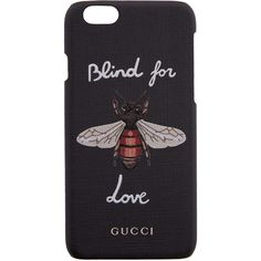 Gucci Black Bee iPhone 6 Case (1.665 HRK) ❤ liked on Polyvore featuring accessories, tech accessories, phone cases, phone, fillers, cases, black and gucci
