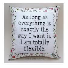 Funny Cross Stitch Pillow, Black and White Pillow, Totally Flexible Quote from NeedleNosey Stitchery. Saved to Snarky Cross Stitch Pillows. Cross Stitching, Cross Stitch Embroidery, Cross Stitch Designs, Cross Stitch Patterns, Diy Broderie, Cross Stitch Quotes, Do It Yourself Inspiration, Style Inspiration, Cross Stitch Pillow