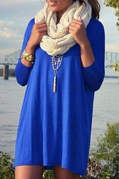 Royal blue Piko dress