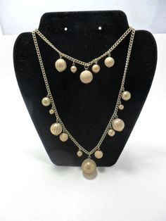 Vintage Necklace Double Strand Multi Textured Beads by KathiJanes, $23.95