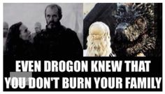 Stannis Baratheon. There really is no excuse. Game of Thrones. ASOIAF