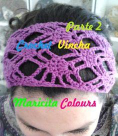 "Crochet Tutorial Vincha Diadema ""Shakira"" (Parte 2) Subtitles English & ..."