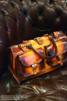 Vintage Doctors Bag & Chesterfield Sofa