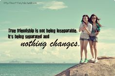 Quote with picture about True friendship is not being inseparable on SayingImages.com