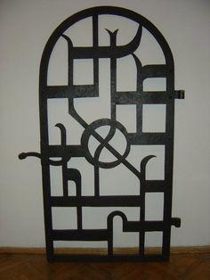 Bauhaus Tur fur Zinagoga Metall,handarbeit. Entwurf;Ludwig Kozma Budapest;1928-30.