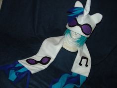 My Little Pony VINYL SCRATCH DJ PON3 Fleece Scarf Unicorn Friendship is Magic MlP FiM. $20.00, via Etsy.