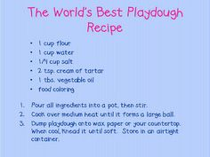Homemade Playdough.