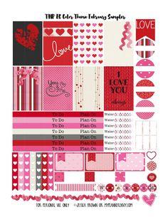 My Planner Envy: Bonus Sampler #2 - Erin Condren February Colors Sampler - Free Planner Printable