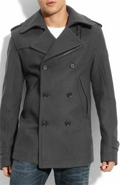 DIESEL® 'Wittor' Trim Fit Peacoat available at Nordstrom