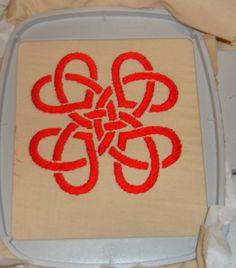 Hearts Irish Celtic Knot Machine Embroidery Design File