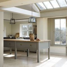 What kind of flooring should I go for in my kitchen? - The deVOL Journal - deVOL Kitchens Kitchen Cabinets Decor, Farmhouse Kitchen Cabinets, Kitchen Flooring, Kitchen Interior, New Kitchen, Kitchen Dining, Island Kitchen, Kitchen Floor Tiles, Kitchen Cabinets With Legs