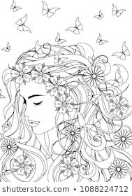 Woman Coloring Book Page For Adult Sailor Moon Coloring Pages