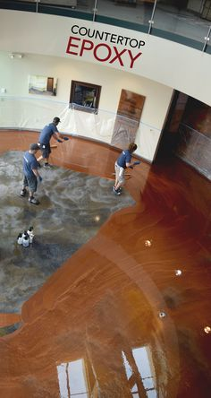 Gather up your team for an epoxy flooring pouring party! Coat your kitchen, living room, bathroom, garage, or whatever other room you're looking to resurface with Countertop Epoxy's FX Metallic Flooring!