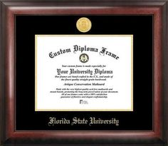 FSU Florida State University Home Office Diploma Picture Frame