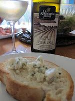Blue cheese and Finger Lakes Riesling, yum!