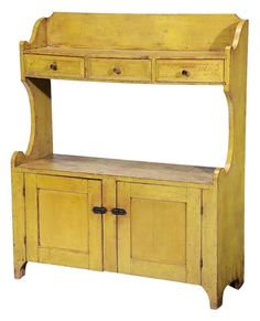 Fine American Yellow-Painted Bench - Price Estimate: $4000 - $6000