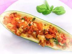 Faszerowana cukinia | KulinarnyBlog.pl Mozzarella, Zucchini, Vegetables, Food, Essen, Vegetable Recipes, Meals, Yemek, Veggies