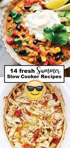 14 Light and Fresh Summer Slow Cooker Recipes Slow Cooker Recipes, Crockpot Recipes, Chicken Recipes, Crockpot Summer Meals, Dinner Crockpot, Crockpot Dishes, Cabbage Recipes, Ham Recipes, Roast Recipes