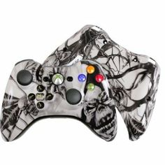 Amazon.com: Custom Xbox 360 Controller Special Edition White Nightmare Evil D-Pad Rechargeable Controller: Video Games #customcontroller #custom360controller #moddedcontroller #Xbox360controller