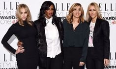 Still got it! Reunited All Saints dazzle in monochrome at the Elle Style Awards - just hours after premiering their hotly-anticipated new single | Daily Mail Online