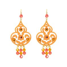 Iconic Lucite And Crystal Drop Earring ($63) ❤ liked on Polyvore