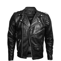 VIPARO Mens Black Classic Brando Lambskin Leather Quilted Lambskin... ($365) ❤ liked on Polyvore featuring outerwear, jackets, men, black, moto jacket, quilted motorcycle jacket, biker jacket, moto zip jacket and utility jacket