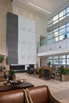 Ahuja Medical Center Lobby.  Love how the furniture creates a hospitality feel in a healthcare environment.