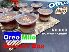 Oreo Milo Dessert Box | No whipped Cream | No DCC - YouTube Oreo Pudding Dessert, Chocolate Pudding, Dessert Boxes, Dessert Cups, Puding Oreo, Nestle Cream, Resep Cake, Cake Recipes, Dessert Recipes