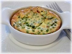 Clafoutis de petits pois, jambon et fromage ail & fines herbes