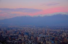 View of sunset over the Andes from San Cristobal Hill in Santiago, Chile. So amazing! Moving To Portland, Portland Hotels, Portland Skyline, Portland Oregon, Denver Skyline, Oh The Places You'll Go, Places To Travel, Places To Visit, State Of Oregon