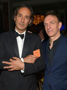 MAY 14, 2015 Honoree Alexandre Desplat (L) and composer Mychael Danna attend the 2015 BMI Film & Television Awards at the Beverly Wilshire Hotel on May 13, 2015 in Beverly Hills, California. (Photo by Lester Cohen/Getty Images for BMI)