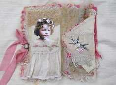 MIXED-MEDIA-FABRIC-COLLAGE-BOOK-IN-PINK-ECRU-AND-CREAM