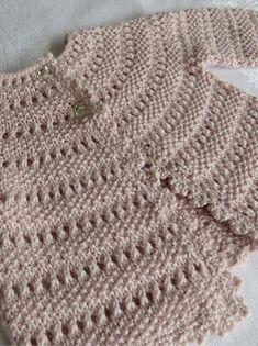 Sunday Baby Cardigan Knitting Pattern using Big Bad Wool Pea Weepaca Yarn