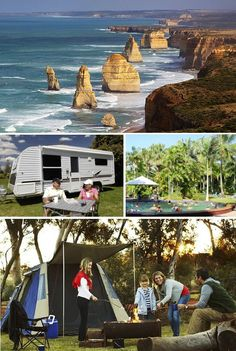 #Top 4 Locations For #CaravanTrips In #Australia - Great Ocean Road Tourist Park, Ayers Rock Campground, Coconut Holiday Resort, Adelaide Shores