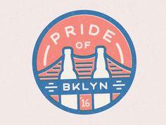 Badge design for Pride of Brooklyn Homebrew Competition by Jack Daniel Bagdadi. #design #illustration #badge #patch #beer
