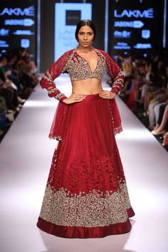 Red lehengaYou won't be able to look away.