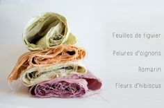 Que peut-on faire avec un bout de tissu, des oignons, des fleurs d'hibiscus, du romarin et un figuier ? Expérimenter la teinture végétale DIY !