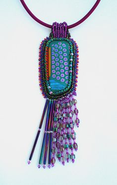 dichroic glass beaded