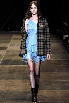 Grunge Plaid Pattern I Saint Laurent Fall Winter 2013