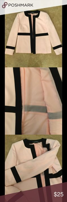 Pink and black blazer Classy pink and black blazer with shoulder pads. In fabulous condition! Only wear shown in last pics. On the inside of the sleeve and one mark on elbow of blazer. Preloved Kasper Jackets & Coats Blazers