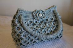 Crochet Handbag - Ash Grey - Medium