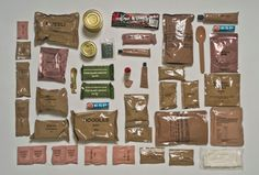 Ration packs of different armies around the world
