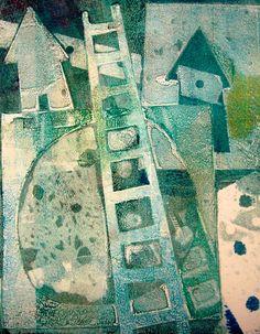 Lisa Grey, gelatin plate print