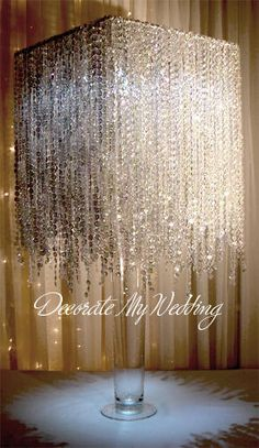 Wedding Decorations & Centerpieces Crystal Rain Waterfall Square.