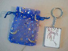 Cherry Blossom key chain by TsWorldOfArt on Etsy, $4.00
