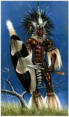 'Shaka Zulu' Fondateur de l'empire zoulou