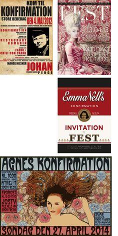 Invitationer – konfirmation Invitations
