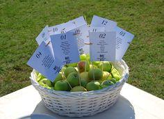 Matrimonio.it | #Tableau #matrimonio, a caccia di #idee originali #wedding #apple #mele #green