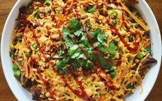 <p>These have all the spicy tangy goodness of pad thai combined with the salty, crunchy flavors of nachos. This dish is super easy to make and is great to serve when you're having a party.</p>